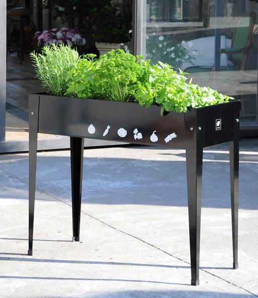 hochbeet f r balkon terrasse anthrazit top qualit t. Black Bedroom Furniture Sets. Home Design Ideas