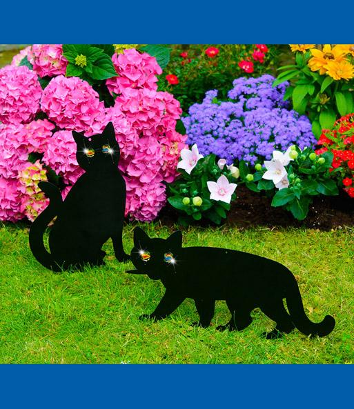 Vogelschreck katzen 1a qualit t online kaufen baldur garten for Gartendeko metallfiguren