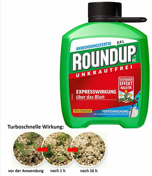 Roundup Garten: ROUNDUP® Turbo Unkrautfrei Ohne Glyphosat